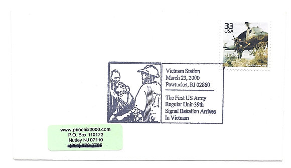 Special Cancel Vietnam War Helicopter US 33 cent C