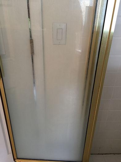 Shower Door - Before Cleaning