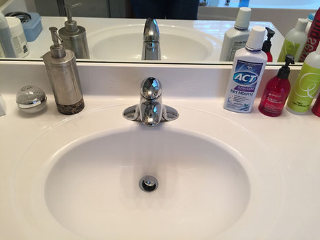 Bathroom Sink - After Cleaning