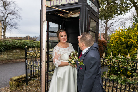 wedding eshott hall phone box