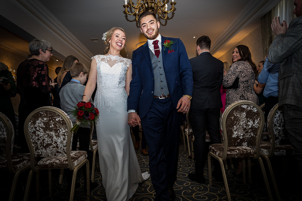 wedding ceremony photograph grand hotel tynemouth