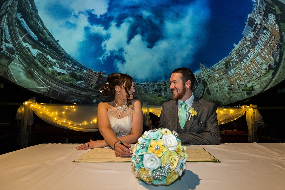 Wedding at The Planetarium Newcastle, centre for life