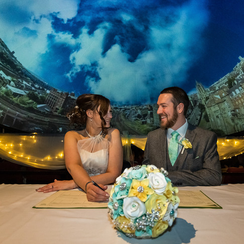 Quirky Wedding at The Planetarium, Newcastle Upon Tyne