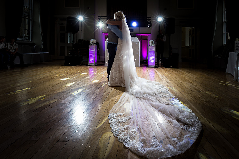 wedding photograph first dance Alnwick Mr & Mrs Newton by wedding photographer Tom Hibberd Photography
