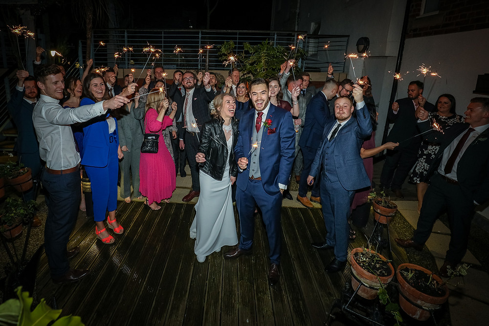 sparklers wedding photography grand hotel tynemouth