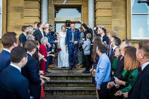 wedding confetti The Grand Hotel Tynemouth Tom Hibberd Photography