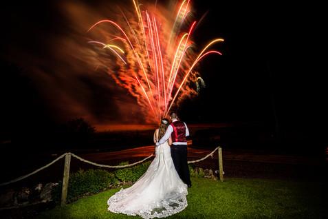 wedding fireworks doxford barns