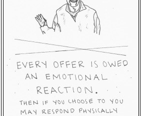 Improv Tip; Every Offer Is Owed An Emotional Reaction - Listen, Breathe, React, Respond.