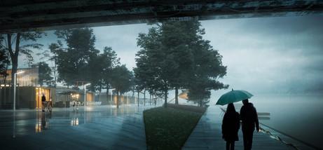 Vistula Boulevards competition project: M. Błeszyńska/M. Kasińska/M. Piwowarski - 2017