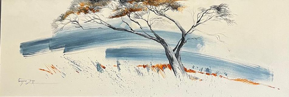 ANNA TREE - OIL ON 100% COTTON CANVAS - 40 x 120cm