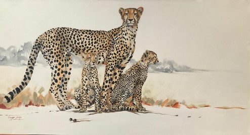 NEW BEGINNINGS - OIL ON 100% COTTON CANVAS - 70 x 140 cm