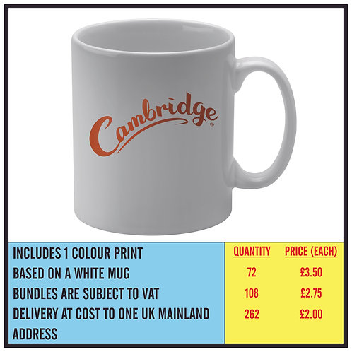 MUG BUNDLE - ONE COLOUR PRINT