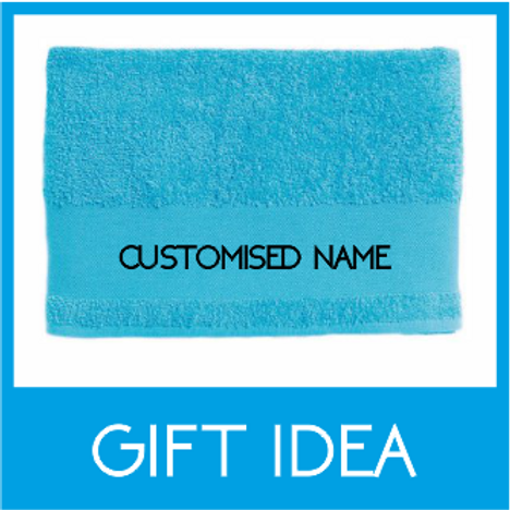 BATH TOWEL GIFT IDEAS - EMBROIDERED