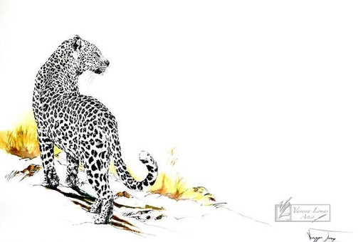ON THE PROWL, LEOPARD - 140 x 100 cm - FRAMED