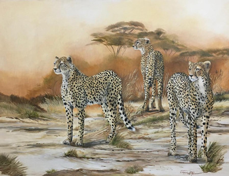 BUILT FOR SPEED - OIL ON 100% COTTON CANVAS - 1 x 1.7 metres