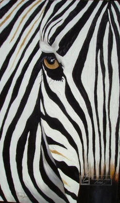 ZEBRA ABSTRACT - OIL ON CANVAS - 90 x 120 cm