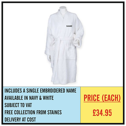 BATH ROBE GIFT IDEAS - EMBROIDERED