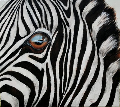 EYE SEE A FISH EAGLE - OIL ON CANVAS - 1.5 x 1.7 m