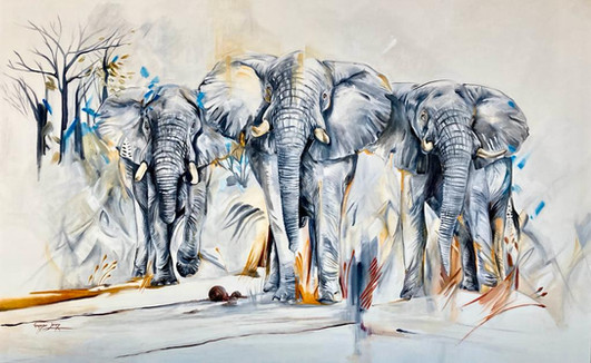 FOREST GIANTS - OIL ON 100% COTTON CANVAS - 1.1m x 1.7m