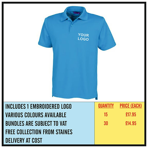 GOLF PERFORMANCE POLO SHIRT BUNDLE - EMBROIDERED