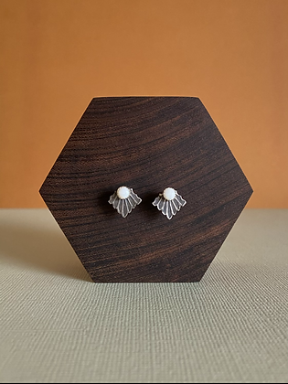 Opal Stamped Studs
