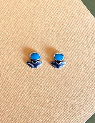 Stamped Turquoise Studs