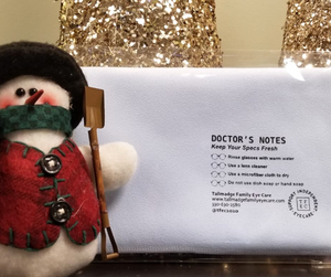 tallmadge family eye care eyepromise vitamins christmas stocking stuffers cleaning cloth dr. dawson optometry