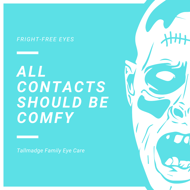Halloween zombie contact lenses