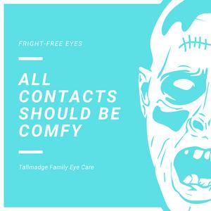 Halloween zombie contact lenses