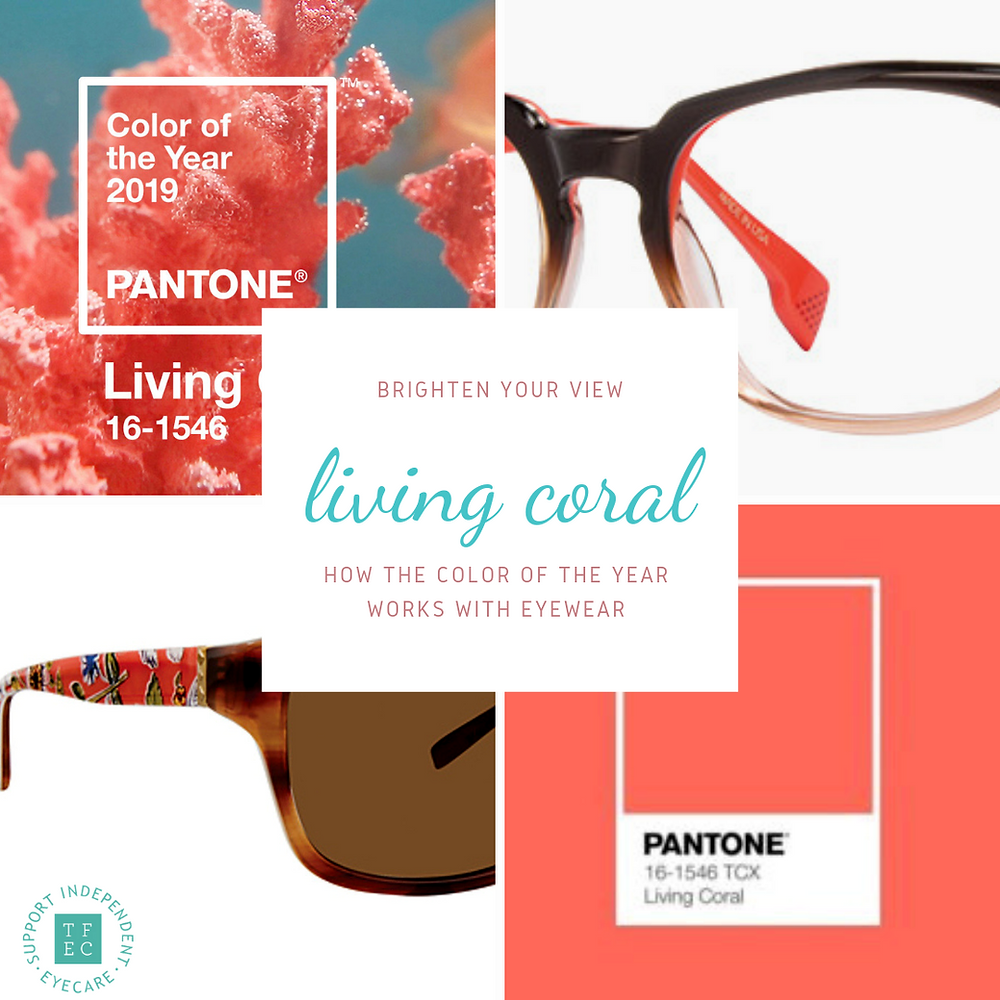 pantone living coral tallmadge family eye care glasses dawson eye doctor