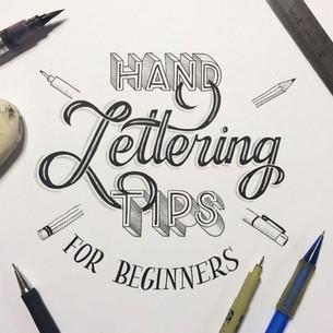Le lettrage à la main