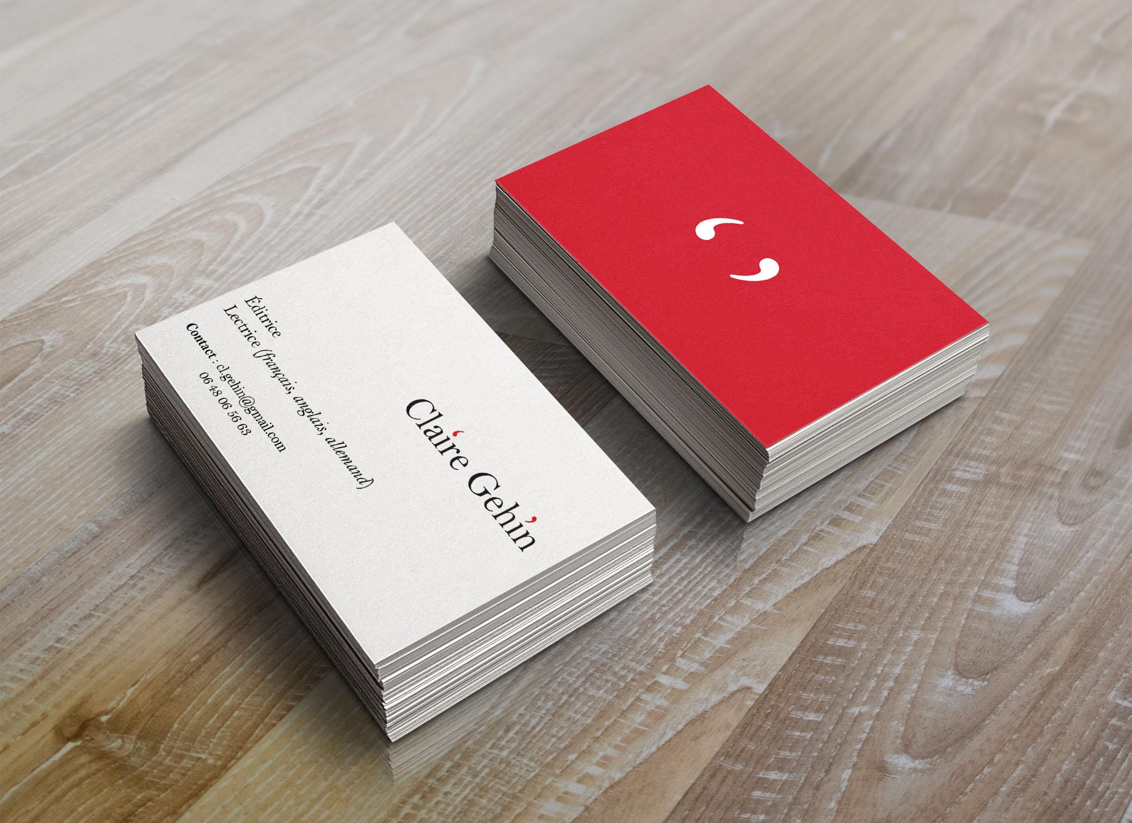 Création de logo, carte de visite