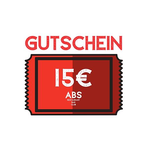 Gutschein (digital) 15€ Restaurant & Bar