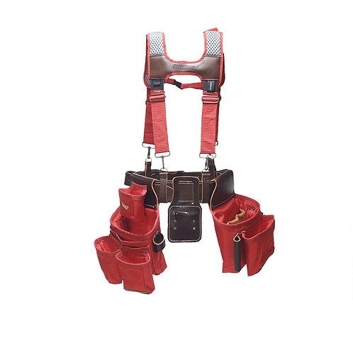 Red Leather Hybrid 19-Pocket Suspension Rig
