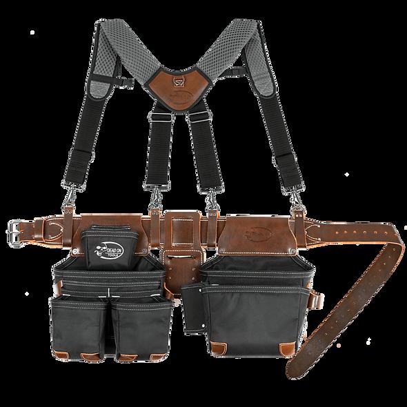 Dead On Leather Hybrid Tool Belt with Suspenders