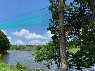 accrobranche au plan d'eau du Vernet-Chaméane