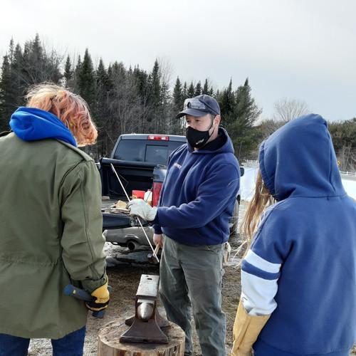 Making Coat Hooks on Forge Day: Winter 2021
