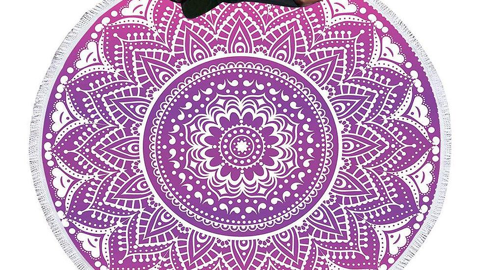Boho Mandala Round Beach Towel Tassel Tapestry