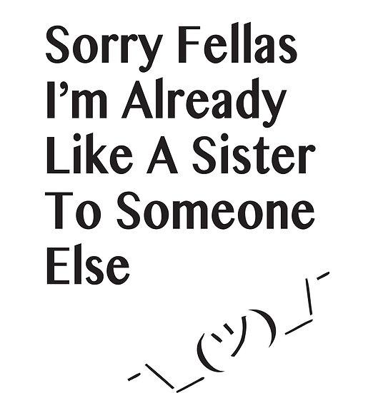 Sorry Fellas