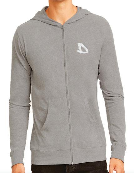 Dela-Wear Unisex Sueded Zip Hoodie
