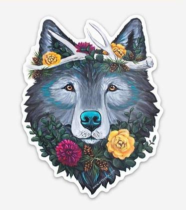 Wolf Antler Crown Sticker
