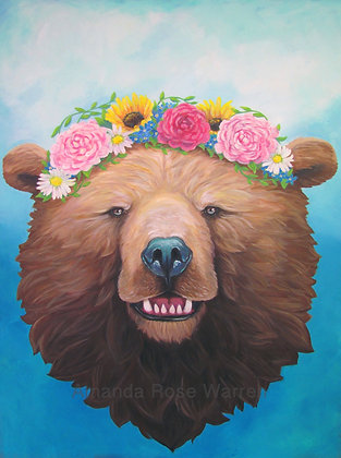 Rosie Bear Fine Art Velvet Print