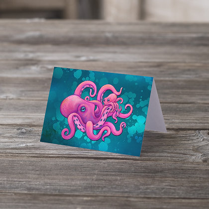 Stick With Me Octopus Greeting Card