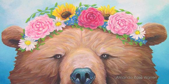 Rosie Bear Eyes Paper Print