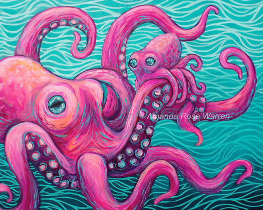 Stick With Me Momma, Octopus Print