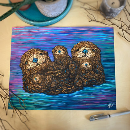 Otter Family of 5