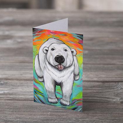 Polar Bear With Attitude  Greeting Card