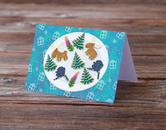 Alaskan Holiday Cookies Greeting Card