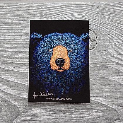 Blue Bear Waterproof Sticker