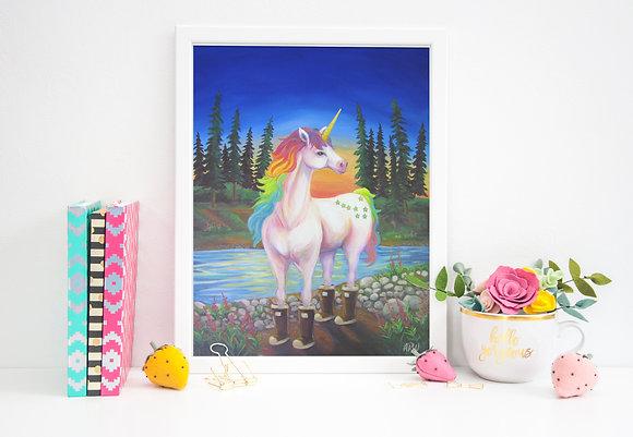 Alaskan Unicorn Print
